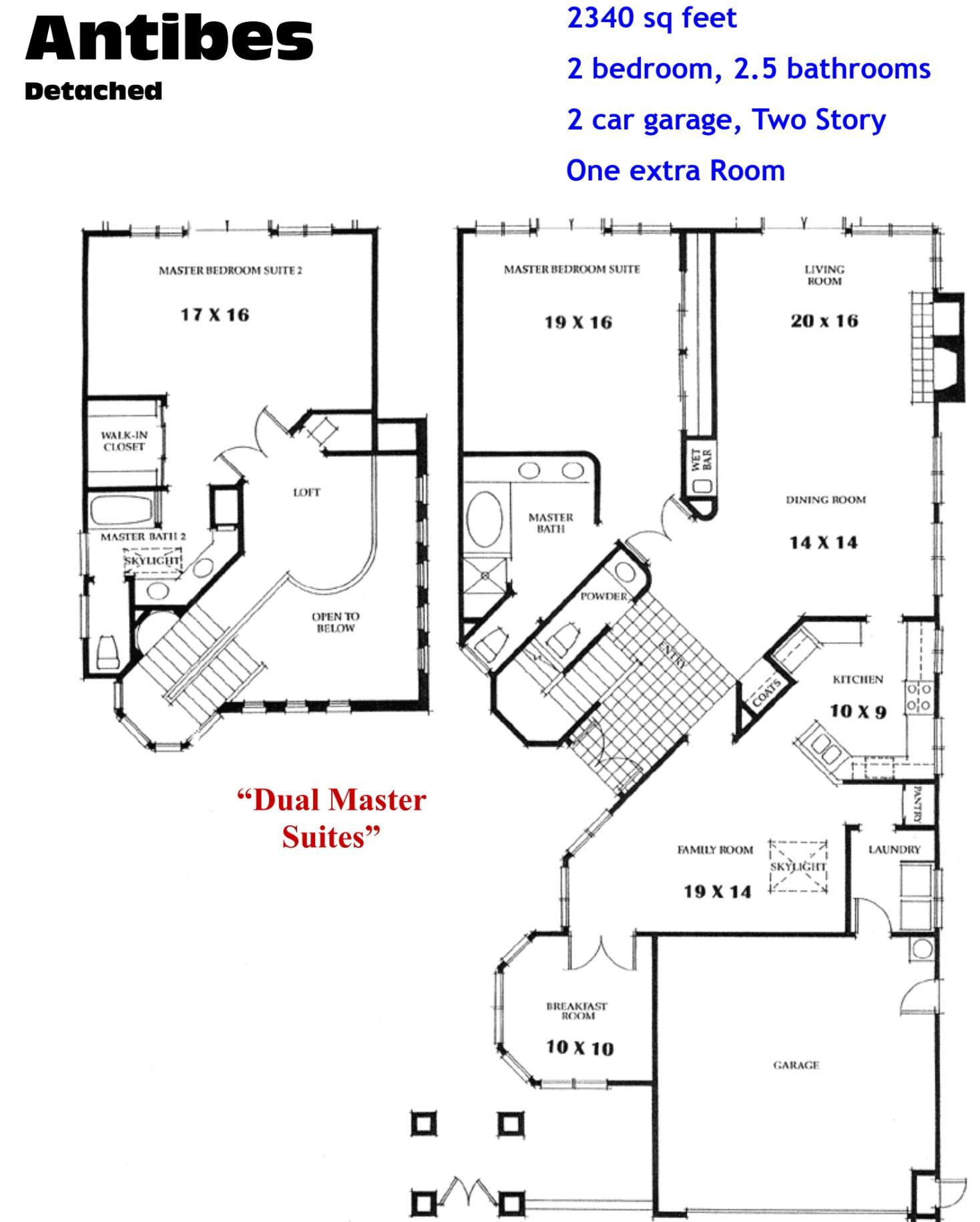 Ocean Hills Country Club Antibes Floor Plans Ocean Hills Model Homes