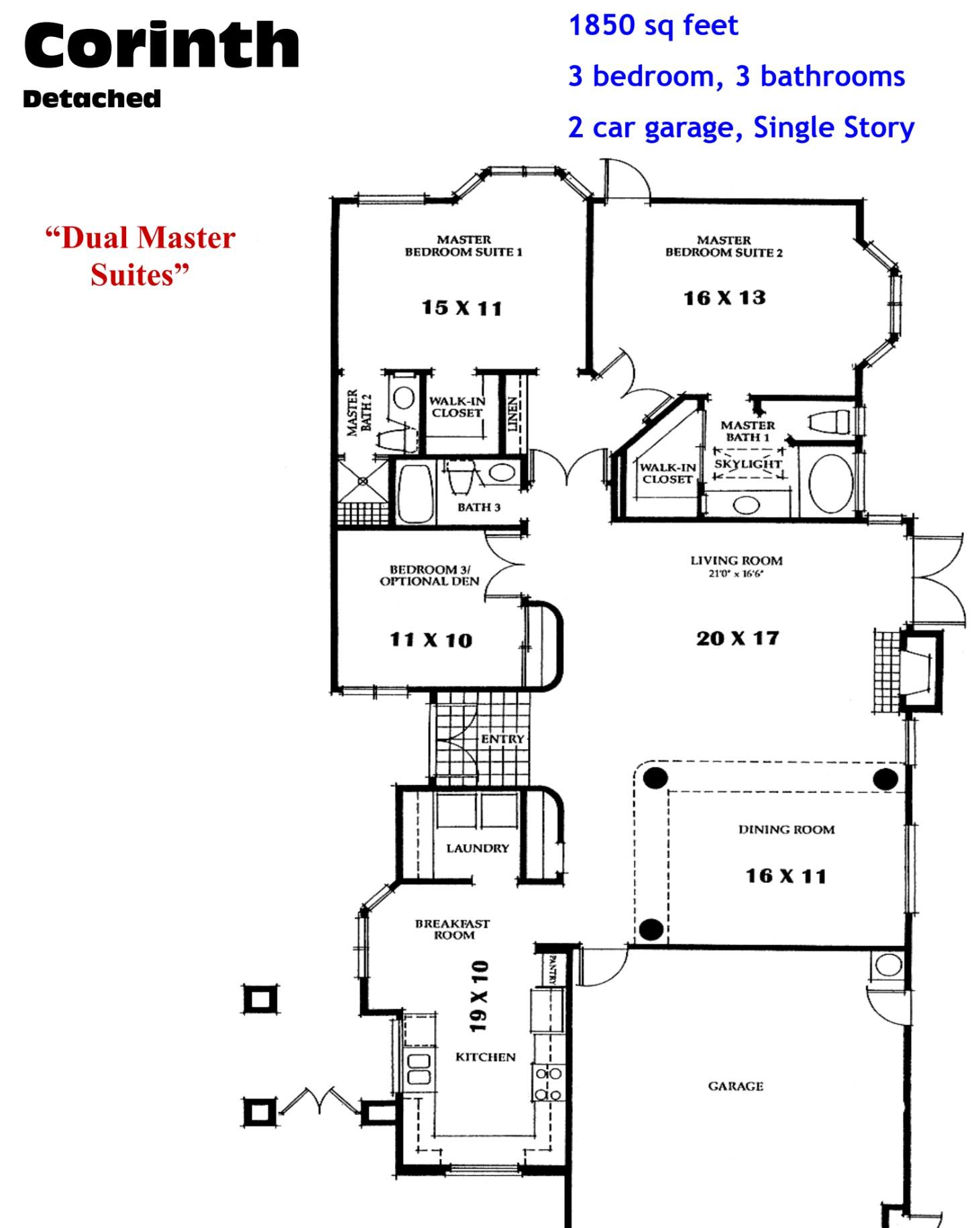 Ocean Hills Country Club Corinth Floor Plans Ocean Hills Model Homes