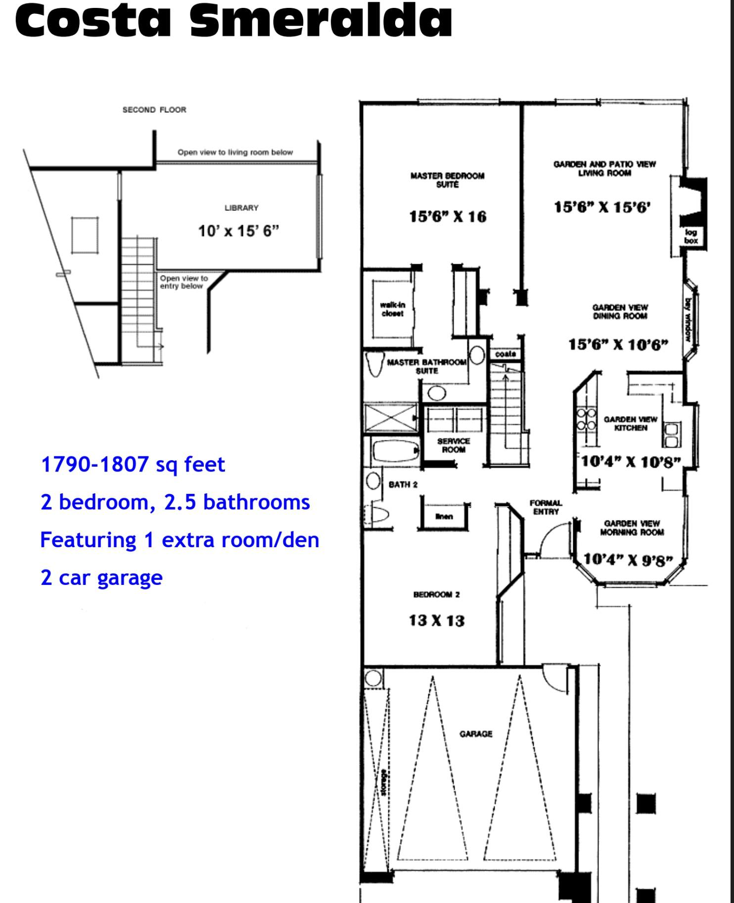 Ocean Hills Country Club Costa Smeralda Floor Plans Ocean Hills