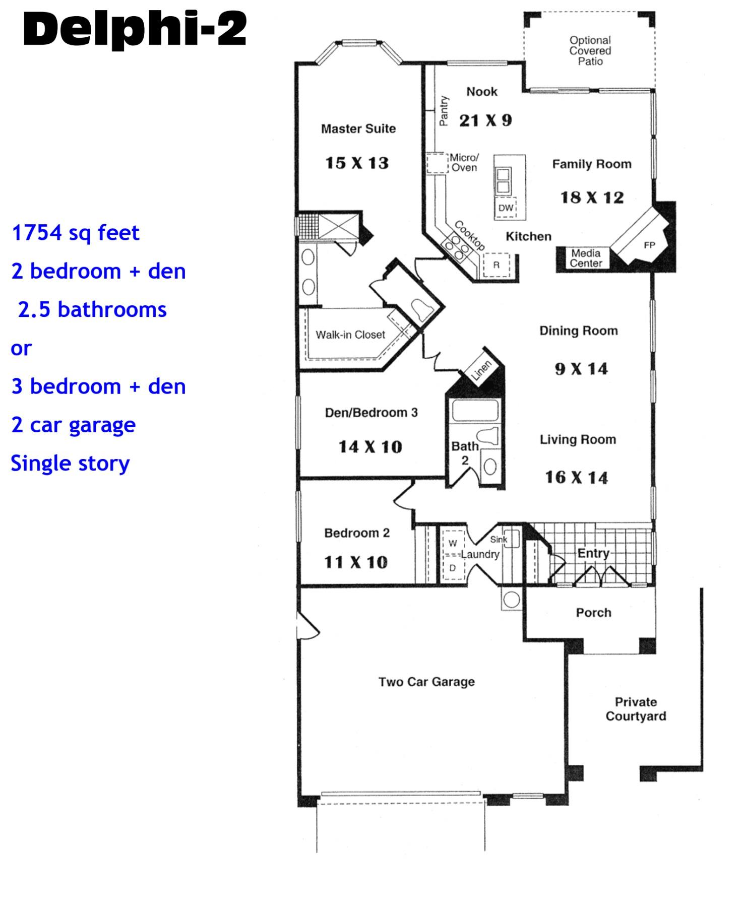 Ocean Hills Country Club Delphi 2 Floor Plans Ocean Hills Model
