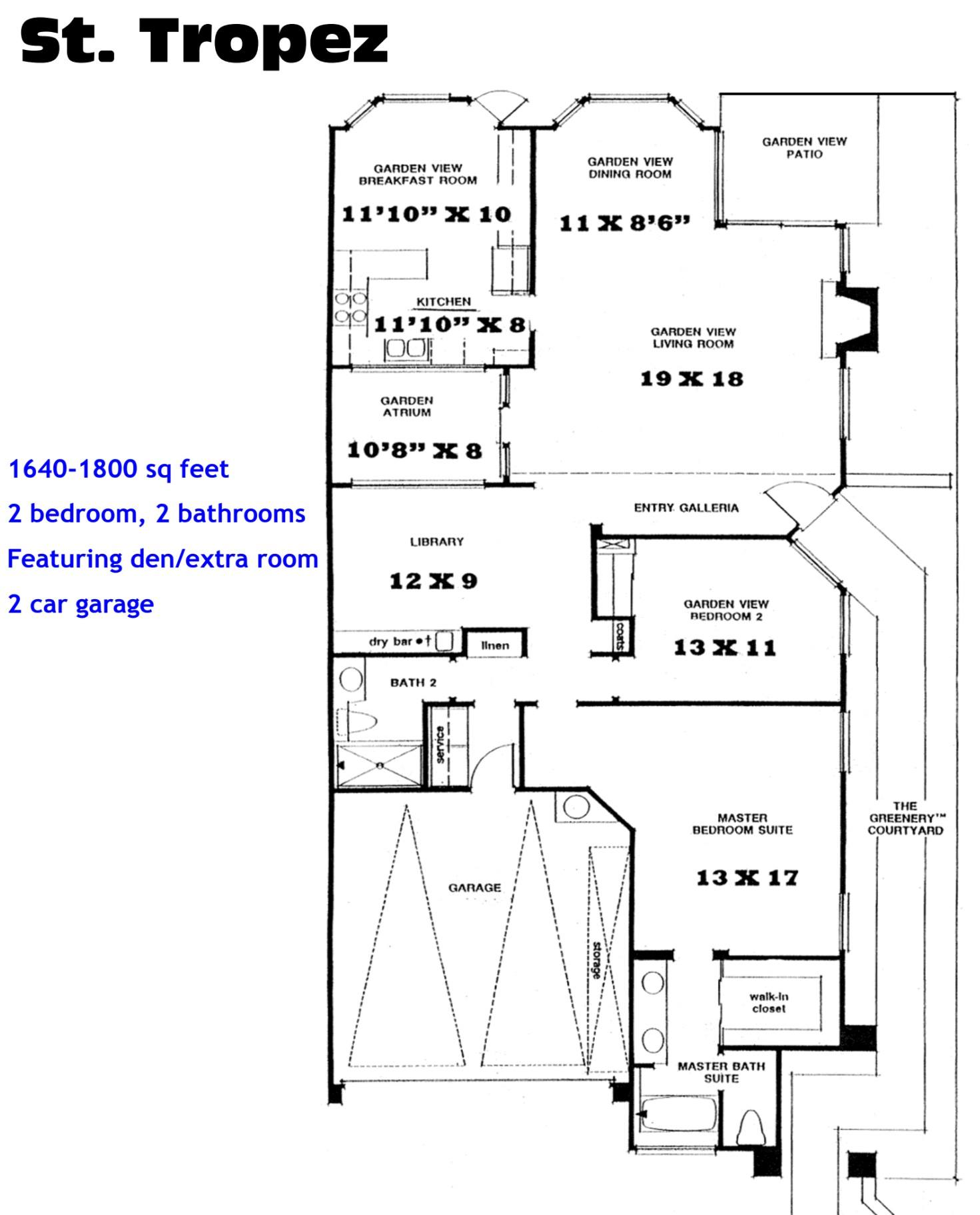 Ocean Hills Country Club St Tropez Floor Plans Ocean Hills Model